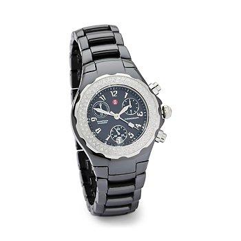Michele Tahití negro cerámica diamante damas reloj mww12a000005reloj de pulsera (reloj de pulsera)
