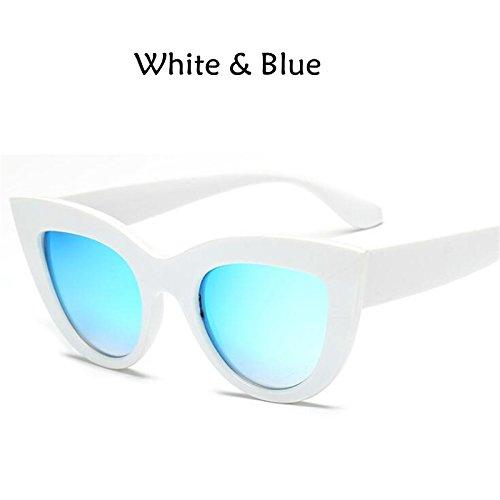YUHANGH Retro Starke Rahmen Cat Eye Sonnenbrille Frauen Damenmode Designer Spiegel Objektiv Cateye Sonnenbrille Für Frau
