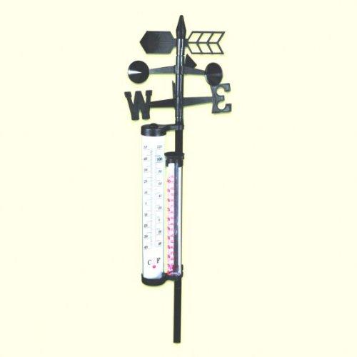 Garden-Joker 256917 Wetterstation für Niederschlag und Windstärke -richtung Höhe 150cm