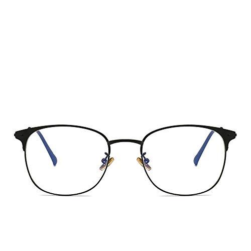 WULE-RYP Polarisierte Sonnenbrille mit UV-Schutz Blu-ray Brillen Herren Metall Retro Runde Brillengestell Superleichtes Rahmen-Fischen, das Golf fährt (Farbe : Schwarz)