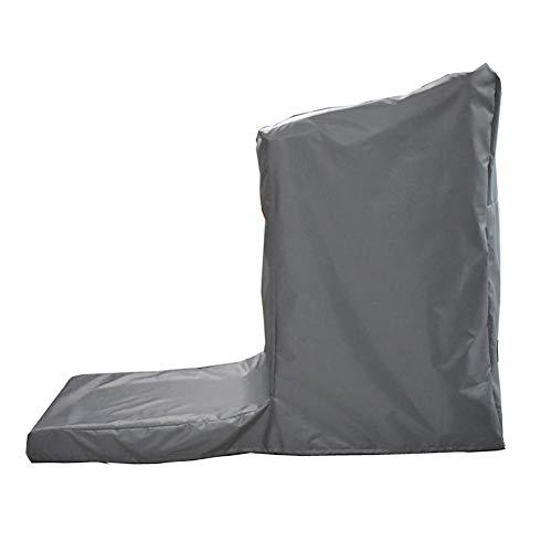 ATR Garten Rattan Möbel Abdeckung Set Abdeckung Nicht Faltbare Laufband Staubschutz wasserdicht Oxford Tuch Plane, 2 Farben, 3 Größen (Farbe: grau, Größe: 185x85x150cm) -