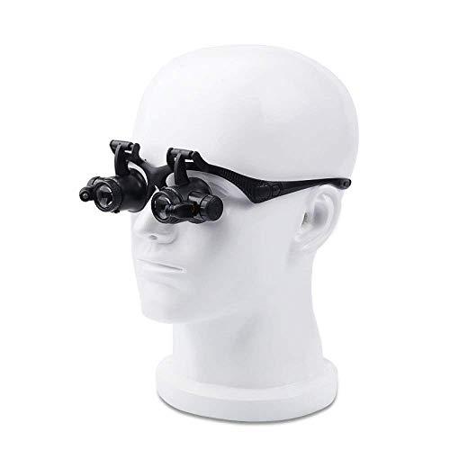 Carl Artbay Nagelneu, hohe Qualität Leselupe, ABS Headset Brille 10X 20X Old Man Lesen Reparatur Schmuck Identifikation HD LED-Licht PMMA Objektiv schwarz Lupe HD tragbar