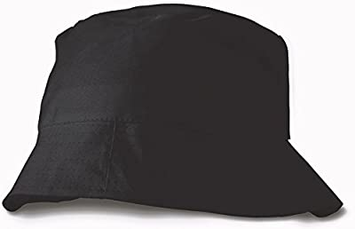 Sonnenhut aus 100% Baumwolle - schwarz