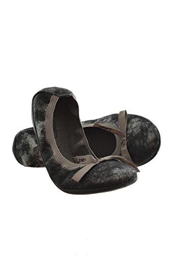 Les p'tites bombes Ballerine ella in metallo, colore: grigio, Grigio (grigio), 37