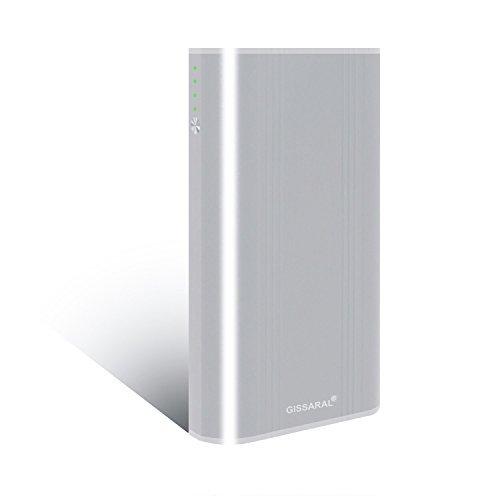 GISSARAL 24000mAh 90Wh Transporter le vol Chargeur de batterie externe portable Power Bank pour MacBook Pro MacBook Air, 4 ports USB charge rapide pour New MacBook Tablettes ou Smartphones -Argent