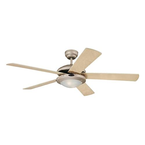 31gJhlFYj8L. SS500  - Westinghouse Ceiling Fans 78182 Comet One-Light 132 cm Five-Blade Indoor Ceiling Fan, Titanium Finish with Opal Frosted…