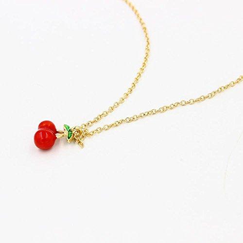 Collana WTING collana Donna sveglia di modo fragola ciliegia ananas di Apple , cherry