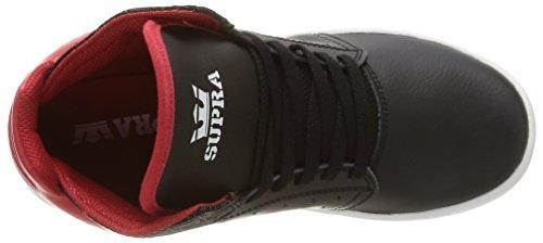 Supra Atom, Sneakers Hautes mixte adulte Noir (Black/Red/White)