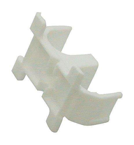 WIROFLEX | Sockelleisten- und Rohrhalter | 10er Set | Halterung | Leiste | Fußbodenleiste | Verkleidung von Rohrleitungen aller Art | Weiß