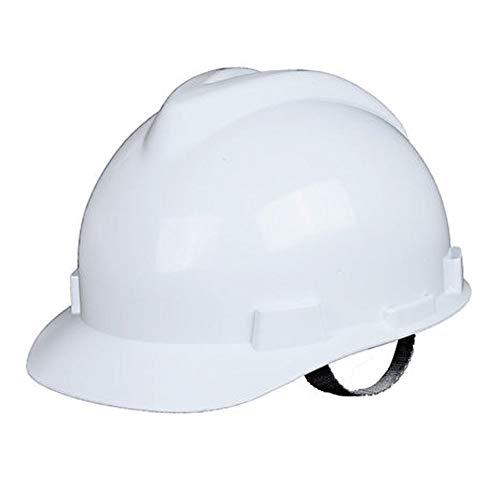 BYAQM Casco De Seguridad De ABS Tipo V, Anti-aplastamiento del Casco De Seguridad Laboral En Ingeniería De La Construcción (Color : Blanco)