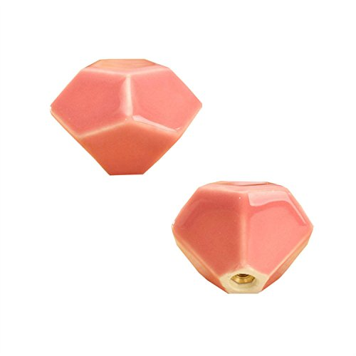 FBSHOP(TM) 2PCS Rosa Turtle Shell-shaped Keramik Knöpfe, Süßigkeit-Farben Türknauf für Küche Schubladentür ,Schränke, Schubladen, Schraenke, Kommode Bücherregal usw Baby-Kind-Kindermöbelgriffe DoorPulls (Türgriffe Innen In Bulk)