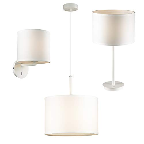 FAVOURITE Lampen-Set mit Tischlampe, Pendelleuchte und Wandleuchte weiß