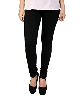 K's Creations Women's Cotton Lycra Churidar Leggings (UMLEG011, Multicolour, Free Size) - Pack of 5