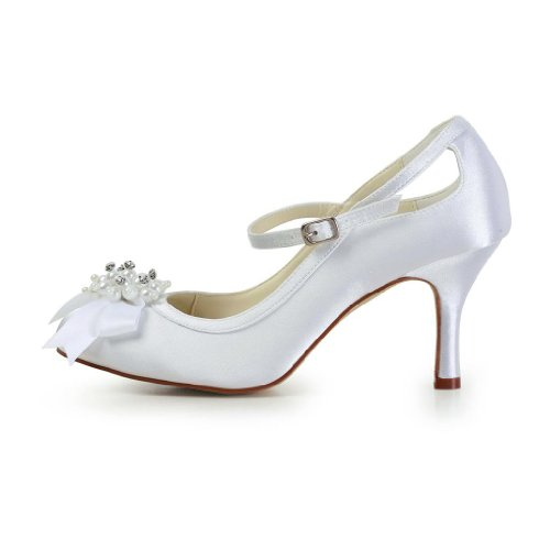 Jia Jia Wedding A3113A Scarpe Sposa Scarpe col tacco donna Bianco