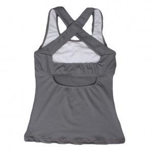 Débardeur Femme Running T-Shirt de Sport Sans Manche Tank Top Yoga Gris