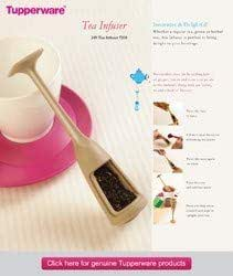Tupperware Plastic Teaz me Tea Strainer (Beige)