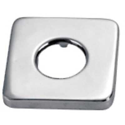Tres Grifería 913474410 Rosace métallique carrée Extérieur 65 x 65 mm Intérieur 32 mm (diamètre) x 13 mm (hauteur)