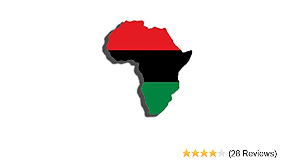 Pan African Flag in The Shape of Africa Sticker Black History Pride Love