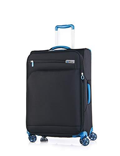 Verage Visionary Reisekoffer 4 Rollen Stoff Trolley mit TSA-Schloss | Schwarz, M-(25'), erweiterbar, wasserdicht