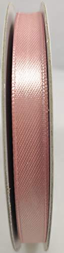 Nastro doppio raso 6 mm rotolo da 50 metri robbon satin 34 colori disponibili (rosa antico)