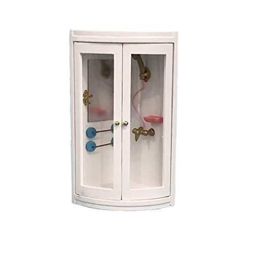 Dapei Kinder Spielzeug 1:12 Puppenhaus Miniatur Möbel Simulation Super Weiß Bad Dusche Gute Qualität