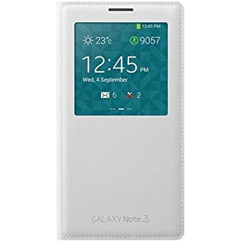 Samsung S-View - Funda para móvil Galaxy Note 3 (Con pantalla frontal), blanco