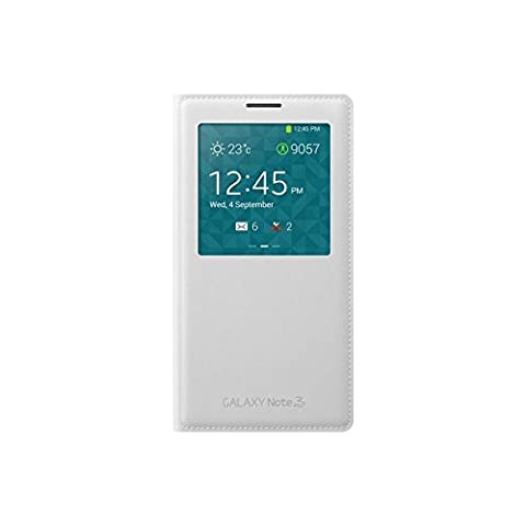 Samsung S View Premium Case Cover for Samsung Galaxy Note 3 - Classic White