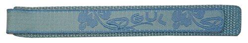 Gul Damen-Uhrenarmband, Nylon, 18 mm / 16 mm, Blau Gemustert