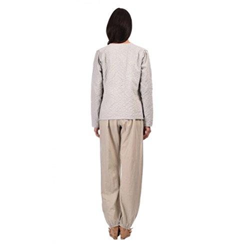 Zen*Ethic - Veste Surpiquée Main - Popeline de coton Gris