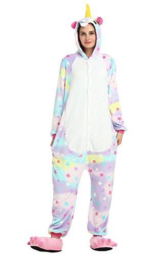 �m Jumpsuit Tier Overall Fleece Schlafanzug Unisex Fasching Cosplay Karneval Star S (Kostüme Ma)
