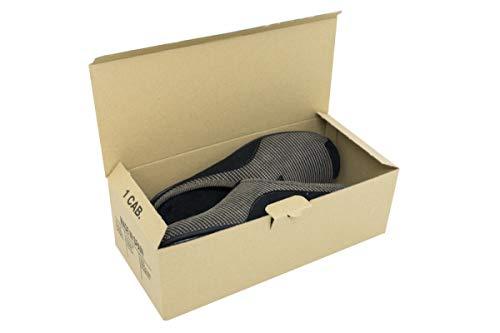Pack de 10 Cajas de Cartón Automontables para Zapatos. Tamaño 31 x 14 x 10,5 cm. Zapatero Apilable...