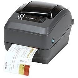 Zebra GX430t - Impresora de etiquetas (Negro, Gris, CODABAR (NW-7), Code 128 (A/B/C), Code 39, Code 49, Code 93, EAN128, EAN13, EAN8, Industrial 2/5, In, 10 - 90%, 5 - 95%, Térmica directa / transferencia térmica, 300 x 300 DPI)