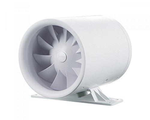 Rohrventilator QuietLine-k EXTRA Stark/375 m³/h/mit einem zweistufigen Motor mit dem Montagewinkel/Belüftung/Entlüftung/Zwischenlüfter/Kanalventilator Lüfter/Ø 150/geräuscharm und stark/Zulüft/Abluft (Belüftung Lüfter Motor)