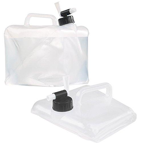 Semptec Urban Survival Technology Campingkanister: Faltbarer Wasserkanister mit Zapfhahn, 5 Liter, ideal für Trinkwasser (Wasser-Tanks, flexibel für Festivals, Partys, Trekking, Reise, Hiking)