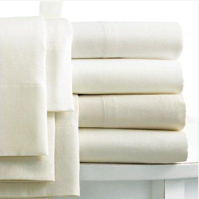 Linens Limited Cache-sommier 2 personnes en coton égyptien 400 fils, crème, pour 122cm x 190cm