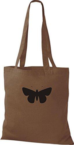 ShirtInStyle Stoffbeutel Schmetterling Butterfly Libelle Käfer Marienkäfer Kult chestnut