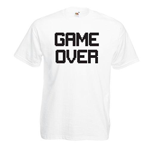 Männer T-Shirt Spiel über lustige Gamergeschenke (XXXXX-Large Weiß (Ideen Kühlschrank Kostüm)