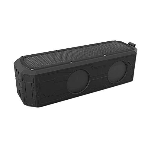 Haut-Parleur Bluetooth qiyanSolar avec Banque d'alimentation 4400Mah, Basse stéréo Subwoofer Bluetooth 4.0 Haut-Parleur 12W, étanche pour l'extérieur