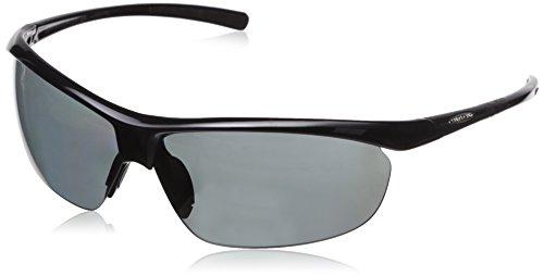 Suncloud Zephyr +2.00 Polarized Reader Sunglasses, Black Frame, Gray Polycarbonate Lenses