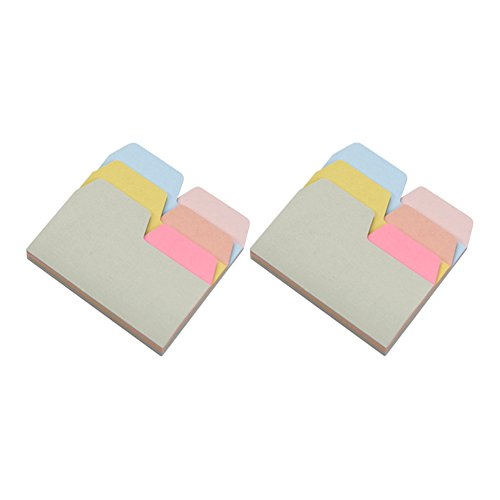 Whchiy 6Solid color Index Divider Sticky notes Blank divisori 2 Pack