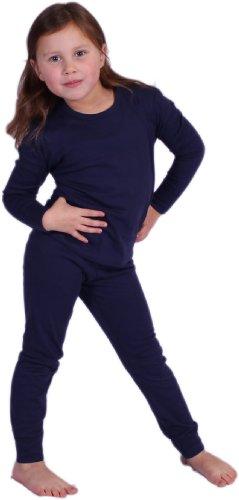 Kinder Unterwäsche Set, blau, 116, Baumwolle -hoher Anteil-, Mädchen, Jungen, lange Unterhose, langärmliges Oberteil, Thermounterwäsche, Kinderunterwäsche, Skiunterwäsche, Funktionsunterwäsche, Kinder, Winterunterwäsche, atmungsaktiv
