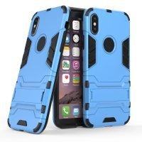 BCIT iPhone X (5.8 inch) Custodia - Ultra Sottile 2-in-1 Case Protettivo Estrema Assorbimento-Urti [Kickstand] Armatura Cover Per iPhone X (5.8 inch) - Argento Blu