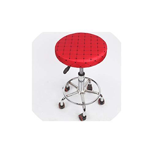 Moily Fayshow Startseite Stuhl-Abdeckung Runde Barhocker Abdeckungs-Schutz-Baumwollgewebe-Sitzstuhl-Abdeckungen, Rot, 33cm -