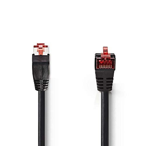 TronicXL Cat 6 SF/UTP Netzwerkkabel RJ45-Stecker 10 Gbit/s Lan Kabel Winkel Winkelstecker (10m)