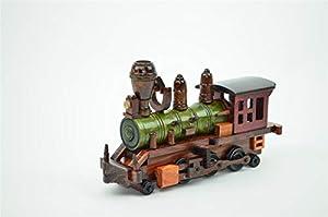 """Shatchi 21063-12"""" Tren de madera de calidad hecho a mano, clásico, coleccionable, clásico, collactebale, Navidad, cumpleaños, decoración para el hogar, oficina, 31 cm, color marrón"""
