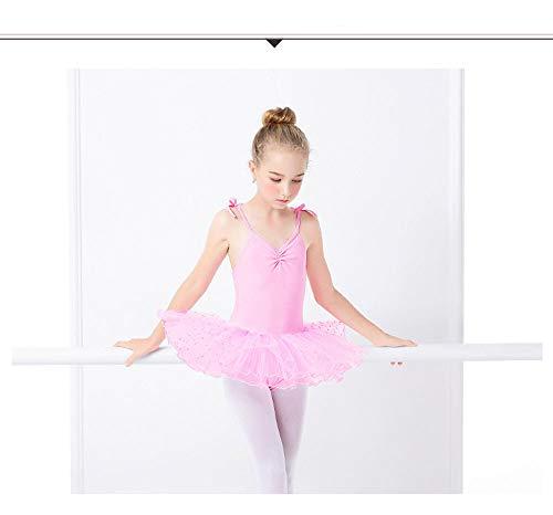 HXQXPY Ballettkleidung Ballettkleid Mädchen Langarm Baumwolle Balletttrikot Ballettanzug Tanzkleid Tanzbody mit ()