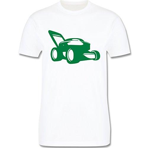 Andere Fahrzeuge - Rasenmäher - Herren Premium T-Shirt Weiß