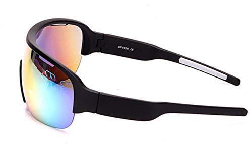 KnSam Winddicht Uv-Beständig Fahrradbrille Damen Kratzfester Scheibe Panoramablickfeld Schwarz Schutzbrille