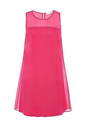 HALLHUBER Seidenkleid mit transparenter Passe körperumspielend geschnitten fuchsia, 38