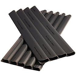24 Stück PVC - Sichtschutzstreifen Klemmschienen - Befestigungsclips - Anthrazit Universal